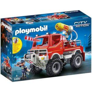 Playmobil City Action Όχημα Πυροσβεστικής Με Τροχαλία Ρυμούλκησης 9466