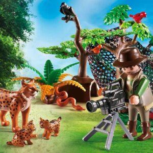 Playmobil Εικονολήπτης Και Οικογένεια Από Λύγκες 5561