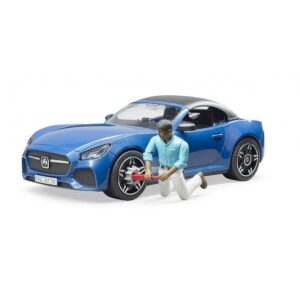 bruder Αυτοκίνητο Roadster Μπλε Με Οδηγό. BR003481