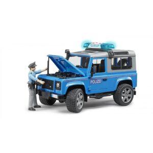 bruder Land Rover Defender Αστυνομικό Όχημα Με Αστυνόμο BR002597